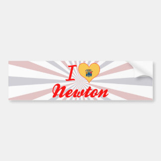 I Love Newton, New Jersey Car Bumper Sticker