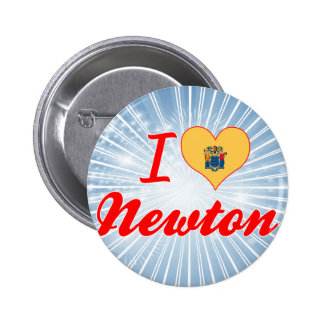 I Love Newton New Jersey Pinback Buttons
