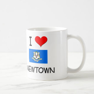 I Love Newtown Connecticut Coffee Mugs