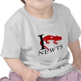 I Love Newts Baby's Tee Shirts