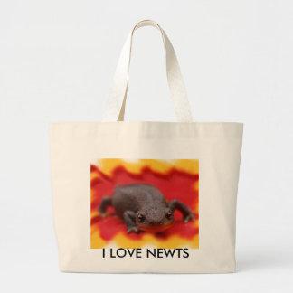 I Love Newts Canvas Bags