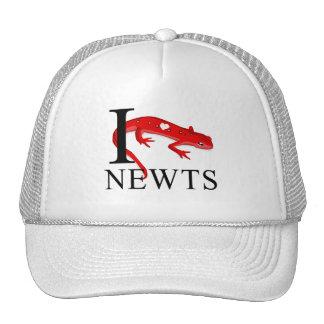 I Love Newts Caps Trucker Hat