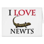I Love Newts Cards