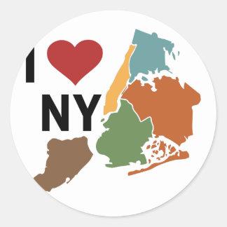 I Love Newyork Classic Round Sticker