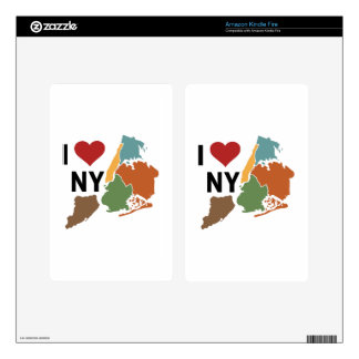 I Love Newyork Decals For Kindle Fire