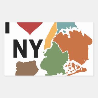 I Love Newyork Rectangular Sticker