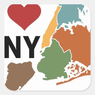 I Love Newyork Square Sticker
