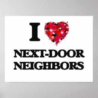 I Love Next-Door Neighbors Poster