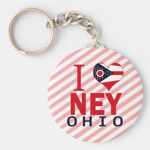 I love Ney, Ohio Keychains
