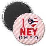 I love Ney, Ohio Magnets