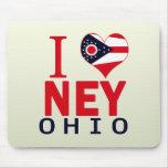 I love Ney, Ohio Mouse Pad