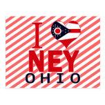 I love Ney, Ohio Postcard