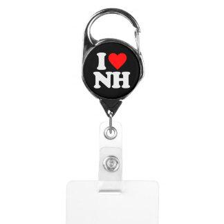 I LOVE NH BADGE HOLDER