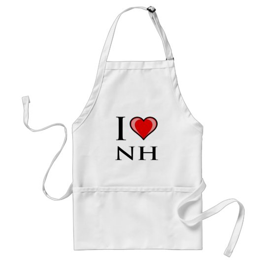 I Love NH - New Hampshire Adult Apron