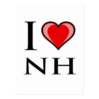 I Love NH - New Hampshire Postcard
