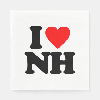 I LOVE NH PAPER NAPKIN