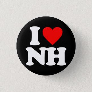 I LOVE NH PINBACK BUTTON