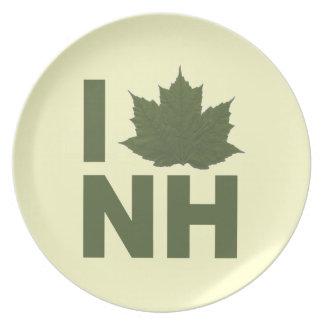 I Love NH Plate