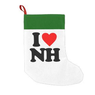 I LOVE NH SMALL CHRISTMAS STOCKING