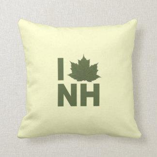 I Love NH Throw Pillow
