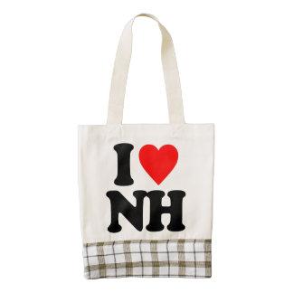 I LOVE NH ZAZZLE HEART TOTE BAG