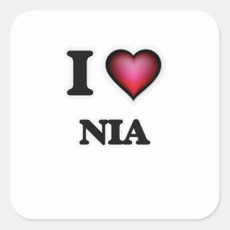 I Love Nia Square Sticker