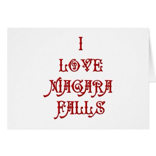 I love Niagara Falls Card