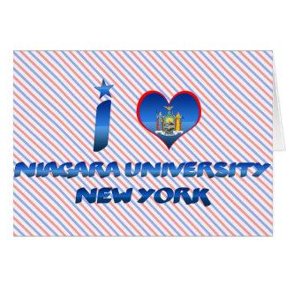 I love Niagara University, New York Card