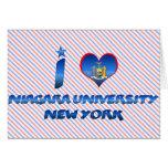 I love Niagara University, New York Greeting Cards