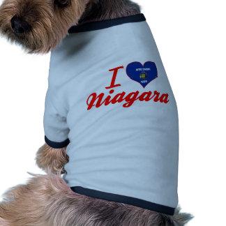 I Love Niagara, Wisconsin Pet Shirt