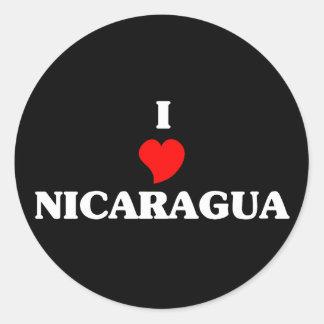 I Love Nicaragua Classic Round Sticker