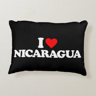 I LOVE NICARAGUA DECORATIVE PILLOW