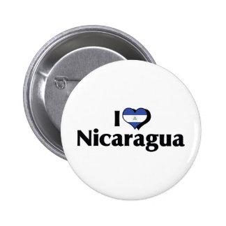 I Love Nicaragua Flag Button