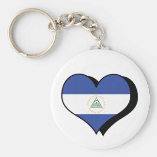 I Love Nicaragua Keychain