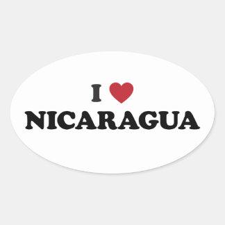 I Love Nicaragua Oval Stickers
