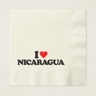 I LOVE NICARAGUA PAPER NAPKIN