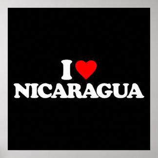 I LOVE NICARAGUA POSTER