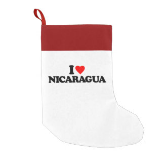 I LOVE NICARAGUA SMALL CHRISTMAS STOCKING