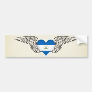 I Love Nicaragua -wings Car Bumper Sticker