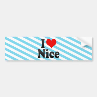 I Love Nice, France. J'Ai L'Amour Nice, France Bumper Sticker