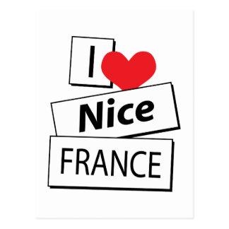 I Love Nice France Postcard