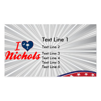 I Love Nichols, South Carolina Double-Sided Standard Business Cards (Pack Of 100)
