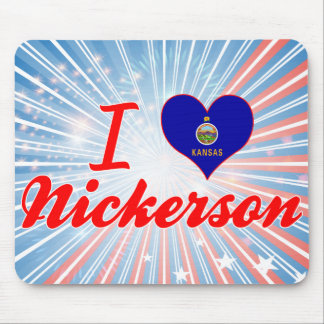 I Love Nickerson, Kansas Mouse Pad