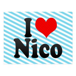 I love Nico Postcard