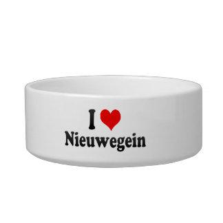 I Love Nieuwegein, Netherlands Cat Water Bowl