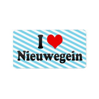 I Love Nieuwegein, Netherlands Custom Address Label