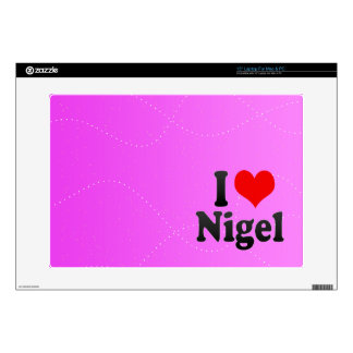 I love Nigel Decal For Laptop