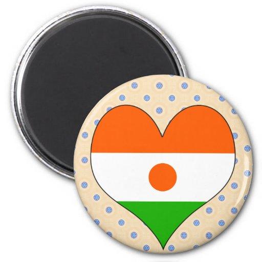I Love Niger 2 Inch Round Magnet