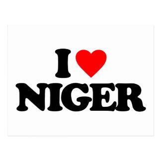 I LOVE NIGER POSTCARD