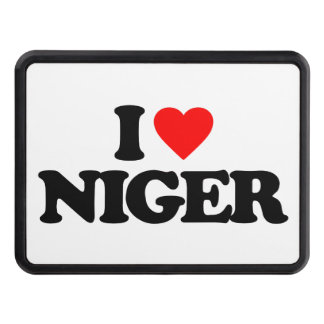 I LOVE NIGER TRAILER HITCH COVER